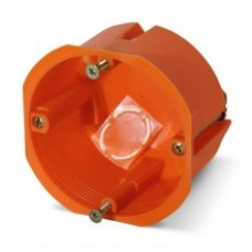PE Коробка монтажная 1-ая для полых стен d=68 глубина 50мм, с крепежом и увеличенным фланцем IP20