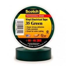 3M Scotch 35 Изоляционная лента высшего класса, 19мм х 20м, зеленая