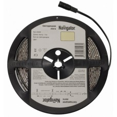 Navigator Лента LED 4.8W/m 12V 60LED/m IP20 синий 3528