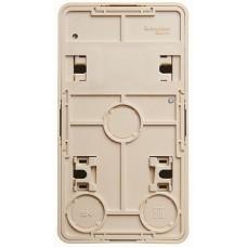SE Этюд наруж Крем Блок: Розетка б/з + выключатель 1-клавишный с подсветкой