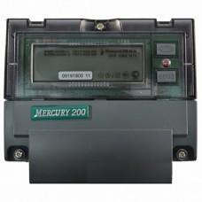 Меркурий Электросчетчик 200.04 на DIN-рейку 5-50А/220В 1Ф 4т. с модемом ЖКИ