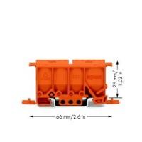 WAGO Фиксирующий держатель для вертикальной установки клемм серии 222 на DIN-рейку