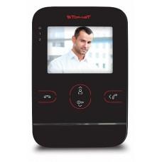 Tor-neT Видеодомофон, 4 цв., hands free, SD-карта, запись до 120 кад, до 4 мон., 2 дв.блока,1 кам черный