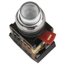 IEK Кнопка ABLFP-22 прозрачный d22мм неон/240В 1з+1р
