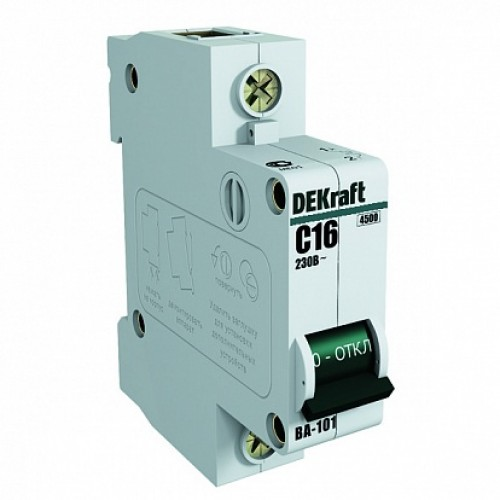 DEKraft ВА-101 Автоматический выключатель 1Р 25А (D) 4,5кА