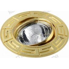 Comtech Antic Светильник галогеновый встраиваемый круглый литье HR51 1x50W GU5.3 золото