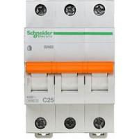 SE Домовой ВА63 Автоматический выключатель 3P 25A (C) 4.5kA