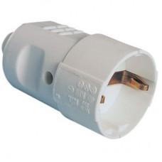 DKC Розетка кабельная, бытовая с центральным вводом кабеля. Серая. IP20 16А 2P+E 230В