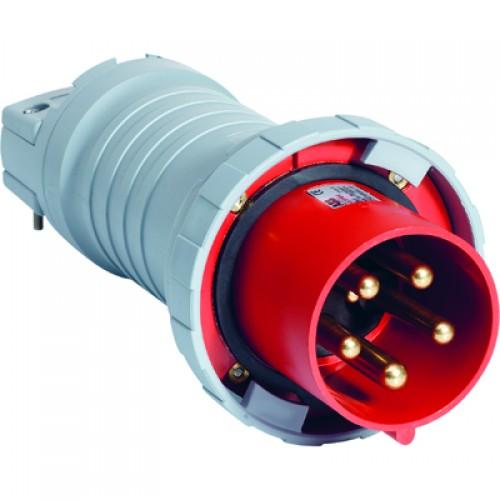 ABB P Вилка кабельная 4125P1W, 125А, 3P+N+E, IP67, 1ч