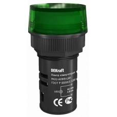 DEKraft ЛK-22 Зеленая Лампа LED коммутаторная ADDS D=22мм 220В