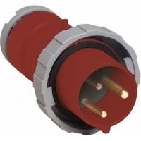 ABB P Вилка кабельная 232P9W, 32А, 2P+E, IP67, 9ч
