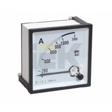IEK Амперметр Э47 1000/5А кл. точн. 1,5 96х96мм