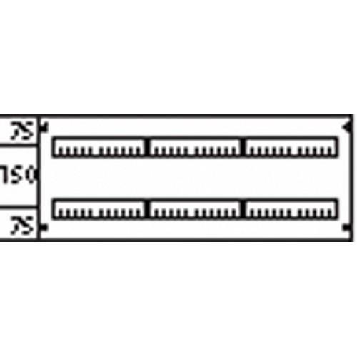 ABB Пластрон глухой 3ряда/2 рейки -150мм