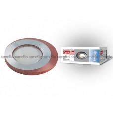 Uniel Fametto Vernissage Светильник LED овал GU5.3 IP20 матовое хром/коричневый