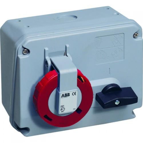 ABB CEWE Розетка c выключателем и блокировкой 16А, 3P+N+E, 380V, IP67