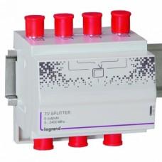 Legrand In One ТВ сплитер на 6 выходов. Частоты: 5-2400МГц. Размер: 4DIN