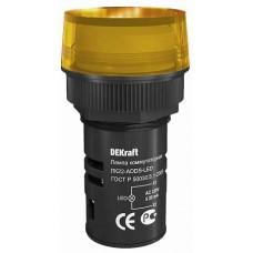 DEKraft ЛK-22 Желтая Лампа LED коммутаторная ADDS D=22мм 220В