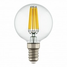 Lightstar 933802 Лампа LED FILAMENT 220V G50 E14 6W=65W 400-430LM 360G CL 3000K 30000H (в комплекте)