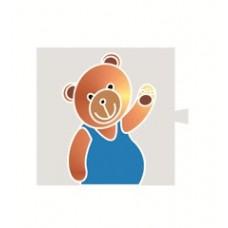 """Simon 82 Световой фильтр-картинка 82066 """"медведь"""""""