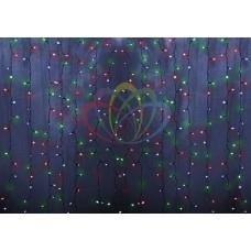"""NEON-NIGHT Гирлянда """"Светодиодный Дождь""""  1,5х1,5м, свечение с динамикой, прозрачный провод, 230 В, диоды мультиколор"""