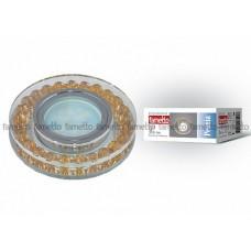 Uniel Fametto Peonia Светильник LED GU5.3 металл/хром/ стекло/цвет прозрачный с элементами золота
