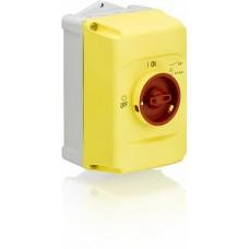 ABB Бокс IB132-Y для MS116, MS132, MS132-T, MO132 IP65 с желто-красной ручкой управления