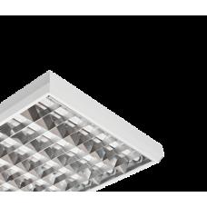 ЗСП Светильник накладной Classic/S-418-23 IP20, 625х625х75, зеркальная решетка, Т8 G13, ЭПРА, PF>0,96