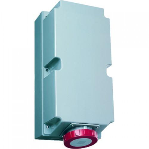 ABB RL Розетка для монтажа на поверхность с подключением шлейфа 3125RL9W, 125A, 3P+E, IP67, 9ч