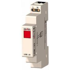 Zamel Сигнализатор световой красный 230VAC IP20 на DIN рейку