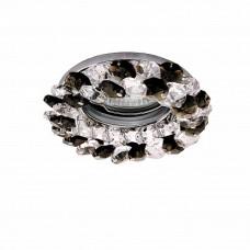 Lightstar Onora Хром/Хром/Черный Встраиваемый светильник Onora 030374 GU5.3 1х50W IP20