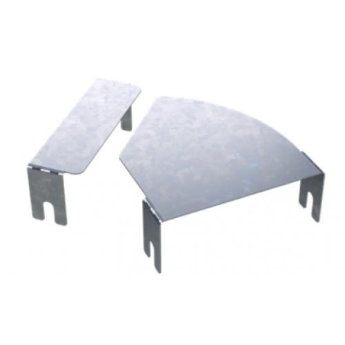DKC Крышка для угла горизонтального изменяемого угла CPO 0-44 осн.500, цинк-ламельная