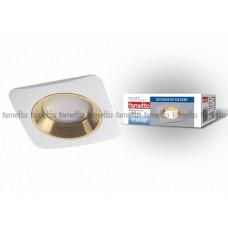 Uniel Fametto Vernissage Светильник LED квадрат GU5.3 IP20 белый/золото