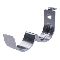 DKC Рожок двойной, толщ.3 мм, цинк-ламель