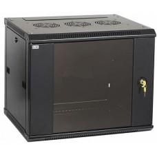 IEK ITK Шкаф LINEA W 9U 600x450 мм дверь стекло, RAL9005