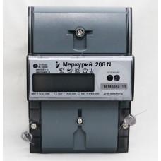 Меркурий Счетчик эл.энергии 1-фаз. 5 - 60А к.т. 1.0/2.0 , 1-4 тар., оптопорт, многотарифный