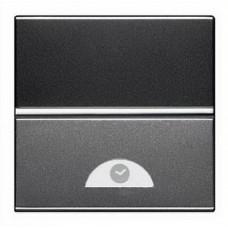 ABB NIE Zenit Антрацит Электронный выключатель на МОПТ с таймером 10 сек-10 мин.,40-500 Вт,2 мод