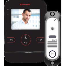 Tor-neT Комплект видеодомофона (TR-25M B монитор видеодомофона цв. + В/П DVC-412С серебро)