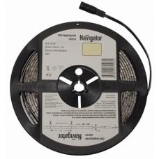 Navigator Лента LED 4.8W/m 12V 60LED/m IP20 жёлтый 3528