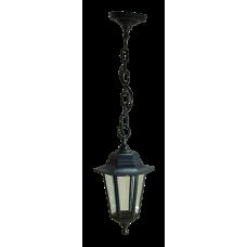 Italmac Светильник садово-парковый шестигранный на цепи 60вт, Е27, черный, IP44 прозрачное стекло, корпус - полипропилен,  габариты 330*200 мм