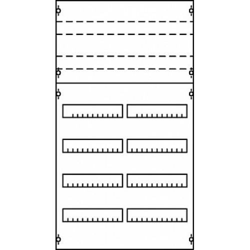 ABB Панель под установку мод. устройств 1ряд/5реек