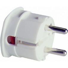 ABL Вилка термопласт 16A, 2P+E, 250V, подключение боковое (белый)
