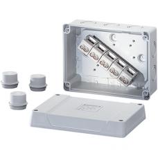 K 9105 Коробка распред с клеммником с сальником 167x125x82 IP55