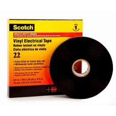 3M Scotch 22 Изоляционная лента высшего класса, 19мм х 33м
