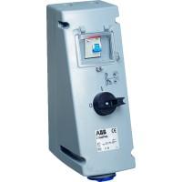 ABB MPR Розетка с рубильником, механической блокировкой и УЗО 232MPR6, 32А, 2Р+Е, IP44, 6ч