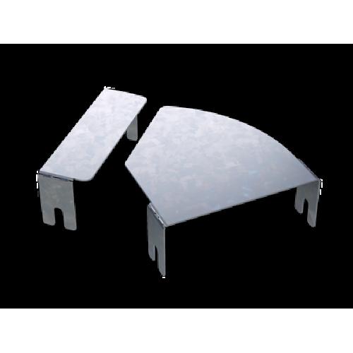 DKC Крышка для угла горизонтального изменяемого CPO 0-44 осн.600, нержавеющая