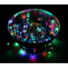 "NEON-NIGHT Гирлянда ""Твинкл Лайт"" 10 м, темно-зеленый ПВХ, 80 LED, цвет мультиколор"