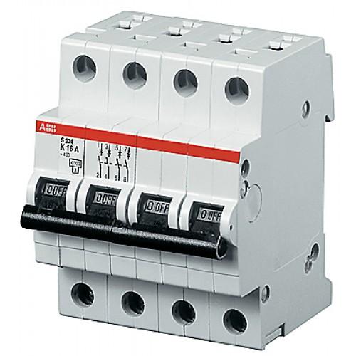 ABB S204P Автоматический выключатель 4P 4А (С) 25kA