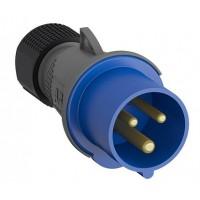ABB Easy&Safe Вилка кабельная 232EP6,32А,2P+E,IP44,6ч