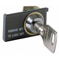 ABB Блокировка выключателя в разомкнутом состоянии KEY LOCK E1/6 - одинаковые ключи N.20005