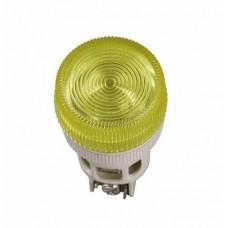 IEK Лампа ENR-22 сигнальная d22мм желтый неон/240В цилиндр